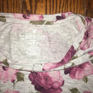 American Eagle Outfitters Tops - Floral Patterned T Shirt